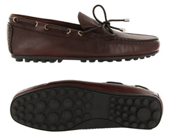 New $550 Fiori Di Lusso Burgundy Leather Shoes - Loafers - (2018032038) - Parent