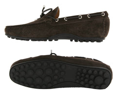 New $500 Fiori Di Lusso Brown Suede Shoes - Drivers - (2018031621) - Parent