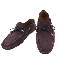 New $500 Fiori Di Lusso Purple Suede Shoes - Loafers - (2018032031) - Parent