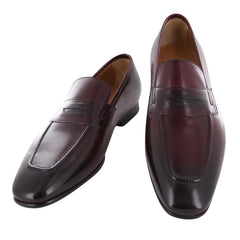 New $900 Fiori Di Lusso Burgundy Shoes - Loafers - (ROMABURG) - Parent
