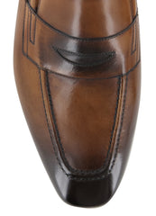 New $900 Fiori Di Lusso Caramel Leather Shoes - Loafers - (ROMACBR) - Parent