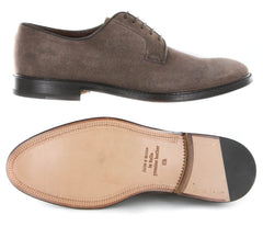 New $500 Finamore Napoli Brown Suede Shoes - Lace Ups - 9.5/8.5 - (5093DAINO)