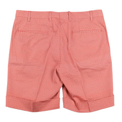$350 Finamore Napoli Orange Foulard Bermuda Shorts - Slim - (EF) - Parent