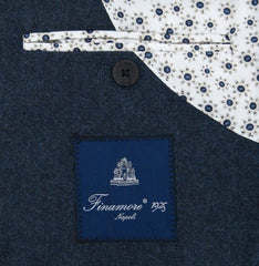 New $1200 Finamore Napoli Navy Blue Wool Blend Sportcoat - (GIA68000102) - Parent