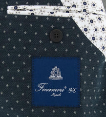 New $975 Finamore Napoli Navy Blue Cotton Sportcoat - (GIA080327U4R7) - Parent