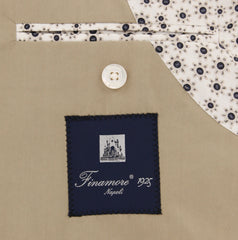 New $875 Finamore Napoli Beige Cotton Solid Sportcoat - (GIP60008801) - Parent