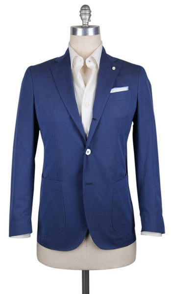 New $950 Finamore Napoli Blue Cotton Blend Sportcoat - (FNSPT880015) - Parent