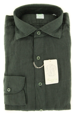 Finamore Napoli Dark Green Shirt - Extra Slim