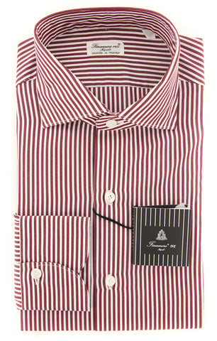 Finamore Napoli Burgundy Red Shirt - Extra Slim