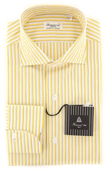 New $425 Finamore Napoli Yellow Shirt - Extra Slim - (F1229176) - Parent