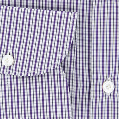 New $425 Finamore Napoli Purple Shirt - Extra Slim - 15.75/40 - (NAN057002)