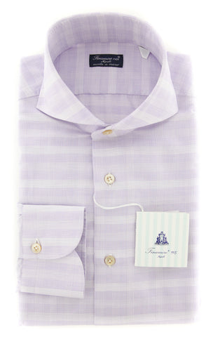 Finamore Napoli Purple Shirt - Slim