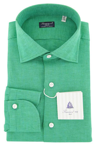 Finamore Napoli Green Shirt - Slim
