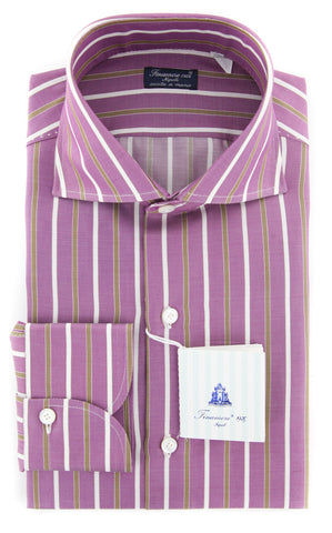 Finamore Napoli Purple Shirt - Extra Slim