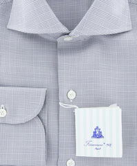 New $425 Finamore Napoli Gray Fancy Shirt - Slim - (FN83177) - Parent