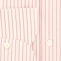 New $425 Finamore Napoli Pink Striped Shirt - Slim - (201803153) - Parent