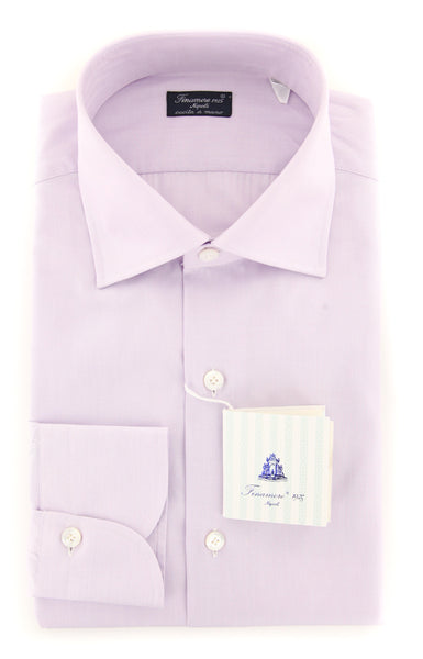 New $425 Finamore Napoli Lavender Purple Solid Shirt - Slim - (2018030133) - Parent