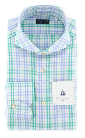 Finamore Napoli Light Green Shirt - Slim