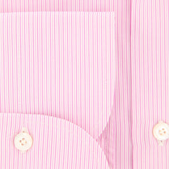 New $425 Finamore Napoli Pink Striped Shirt - Slim - (FN841711) - Parent