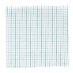 "New $100 Finamore Napoli Off White Plaid Pocket Square -  x 12"" - (FN7271710)"