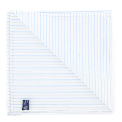 "New $100 Finamore Napoli White Striped Pocket Square -  x 12"" - (FN7271711)"