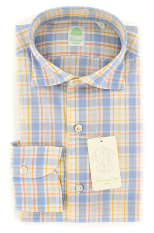 Finamore Napoli Orange Shirt - Extra Slim