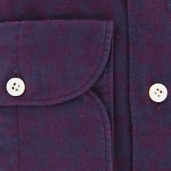 New $375 Finamore Napoli Purple Fancy Shirt - Extra Slim - (2018031317) - Parent