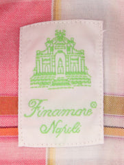 New $375 Finamore Napoli Pink Plaid Shirt - Extra Slim - (2018022726) - Parent