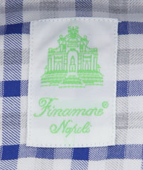 New $375 Finamore Napoli Blue Plaid Shirt - Extra Slim - (2018022830) - Parent