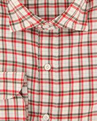 New $375 Finamore Napoli Red Fancy Shirt - Extra Slim - (FN0810241) - Parent