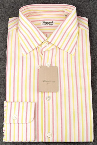 Finamore Napoli Yellow Shirt – Size: 15.75 US / 40 EU