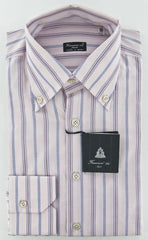 New $425 Finamore Napoli Pink Shirt 15.75/40 - ** SALE **