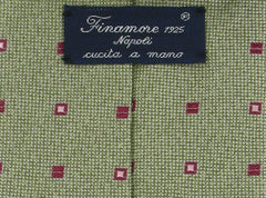 New $195 Finamore Napoli Green Silk Tie