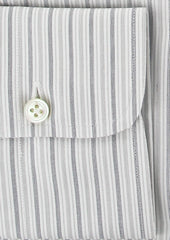 New $375 Finamore Napoli White Shirt 15.75/40