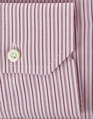 New $375 Finamore Napoli Pink Shirt Medium