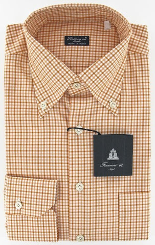 Finamore Napoli Orange Shirt – Size: 15.75 US / 40 EU