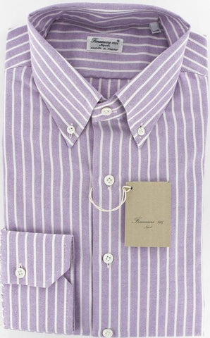 Finamore Napoli Purple Shirt – Size: 15.5 US / 39 EU