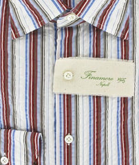 Finamore Napoli Red Shirt – Size: 15.75 US / 40 EU