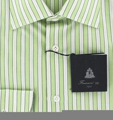 New $425 Finamore Napoli Green Shirt 15.75/40