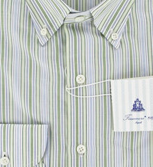 New $425 Finamore Napoli Green Shirt 15.5/39