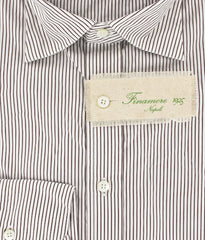 New $325 Finamore Napoli Button-Front Shirt X Large