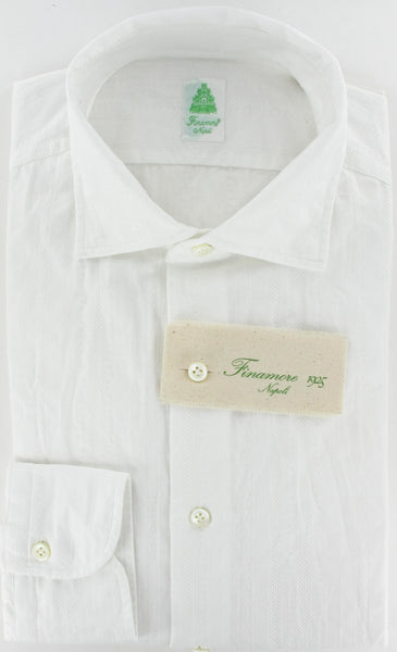 New $375 Finamore Napoli Button-Front Shirt X Large