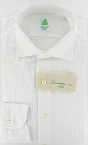 Finamore Napoli White Button-Front Shirt – Size: X Large US