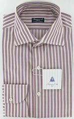 New $425 Finamore Napoli Purple Shirt 15.75/40