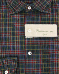 New $375 Finamore Napoli Green Shirt M/M