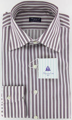 New $425 Finamore Napoli Purple Shirt 15.5/39