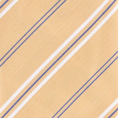 "New $195 Finamore Napoli Yellow Striped Tie - 3.25"" x 58"" - (TIESTRX130)"