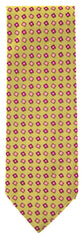 "New $195 Finamore Napoli Beige,  White, Pink, Brown Tie - 3.25"" Wide"