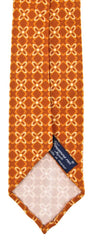 "New $195 Finamore Napoli Orange Floral Tie - 3.25"" x 58"" - (TIEFLORX81)"