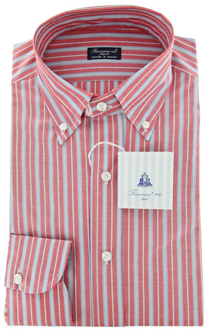 Finamore Napoli Red Shirt – Size: 17 US / 43 EU